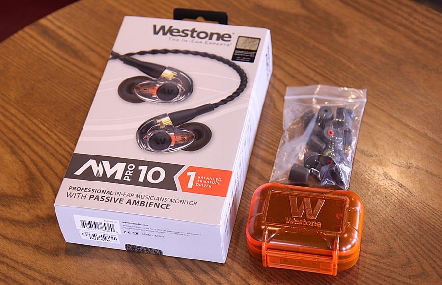 웨스톤 AM Pro 10 주변 소리와 음악을 믹싱하는 앰비언트 인이어 모니터
